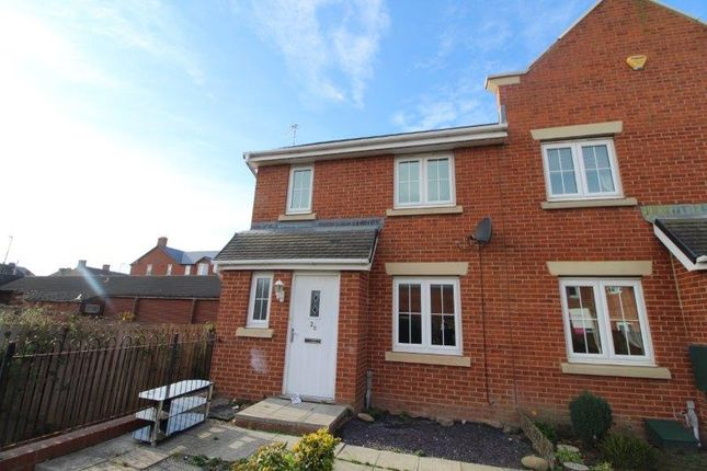 Thumbnail End terrace house to rent in Manor Court, Newbiggin-By-The-Sea