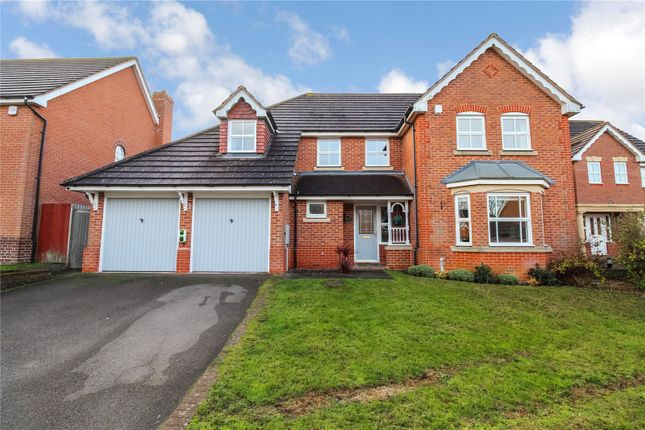 Thumbnail Detached house for sale in Scrivener Close, Bushby, Leicester, Leicestershire