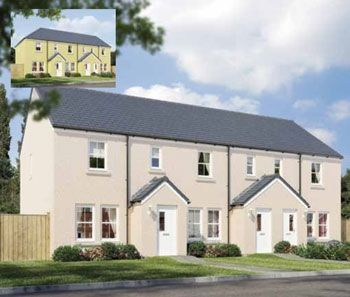 "3 bedroom terraced house for sale in ""The Newport"" at Stable Gardens, Galashiels"