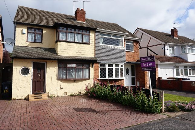 Thumbnail Semi-detached house for sale in Balmoral Drive, Willenhall