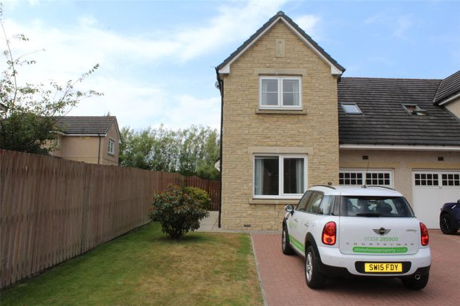 Thumbnail End terrace house to rent in Castleview Avenue, Kintore, Aberdeenshire