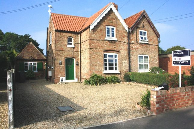 Thumbnail Semi-detached house to rent in Beck Street, Digby, Lincolnshire