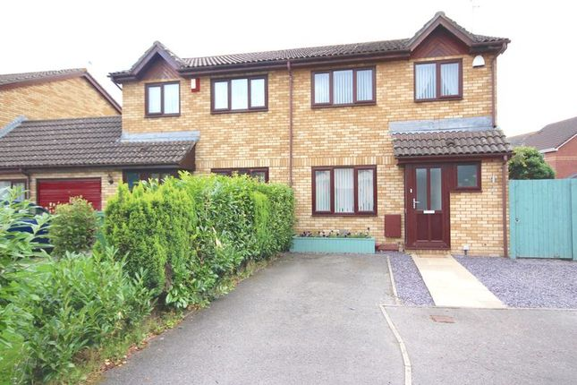 Thumbnail Semi-detached house for sale in Meadowsweet Drive, St. Mellons, Cardiff