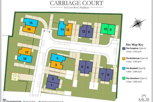 Detached house for sale in New Development - Carriage Court, Magilligan, Limavady