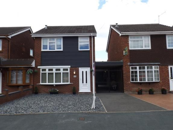 Thumbnail Link-detached house for sale in Greenhill Close, Willenhall, West Midlands