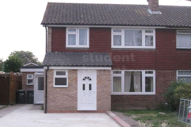 Thumbnail Semi-detached house to rent in St. Dunstans Close, Canterbury