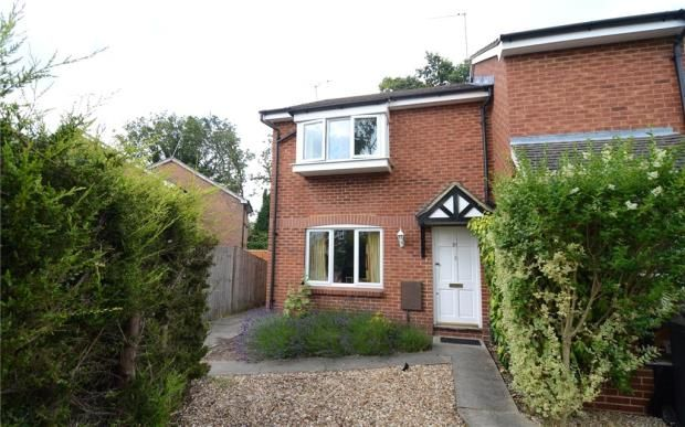 Thumbnail End terrace house for sale in Haining Gardens, Mytchett, Camberley