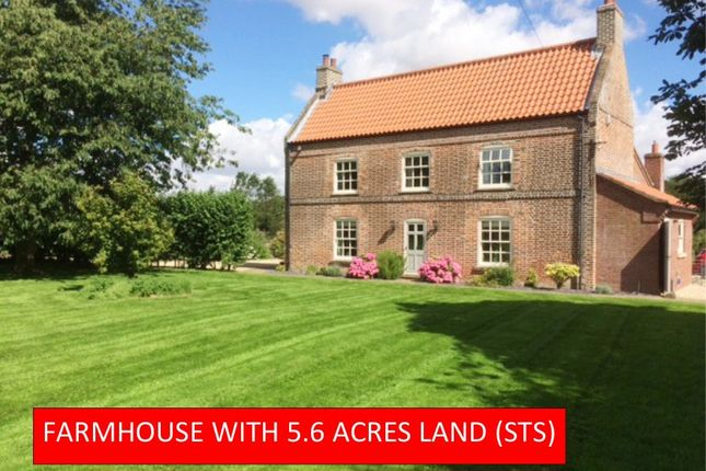 Thumbnail Farmhouse for sale in The Grange, Salmonby, Lincolnshire Wolds
