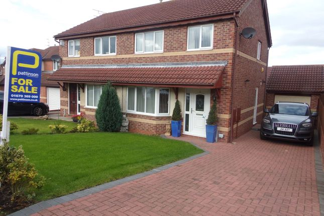 Thumbnail Semi-detached house for sale in Barnard Close, Bedlington