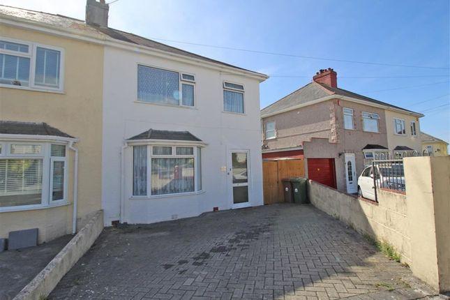 Thumbnail Semi-detached house for sale in Little Ash Road, Saltash Passage, Plymouth