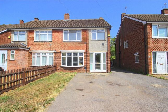 Thumbnail Semi-detached house to rent in Coleridge Crescent, Colnbrook, Berkshire