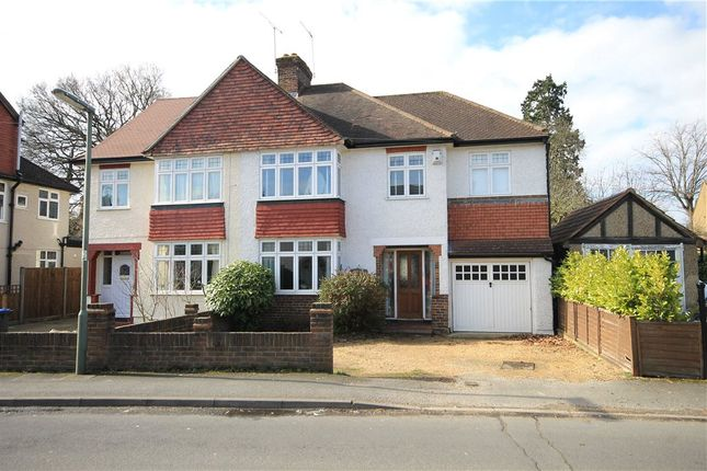 Thumbnail Semi-detached house for sale in The Grove, Addlestone, Surrey