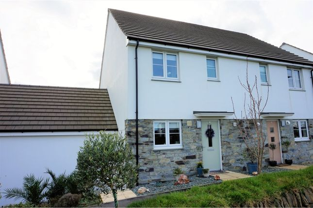 Thumbnail Semi-detached house for sale in Gear Drive, Quintrell Downs, Newquay