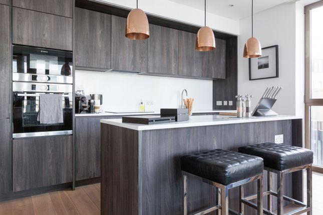 Kitchen of The Fulmar, Reminder Lane, Lower Riverside, Greenwich Peninsula SE10
