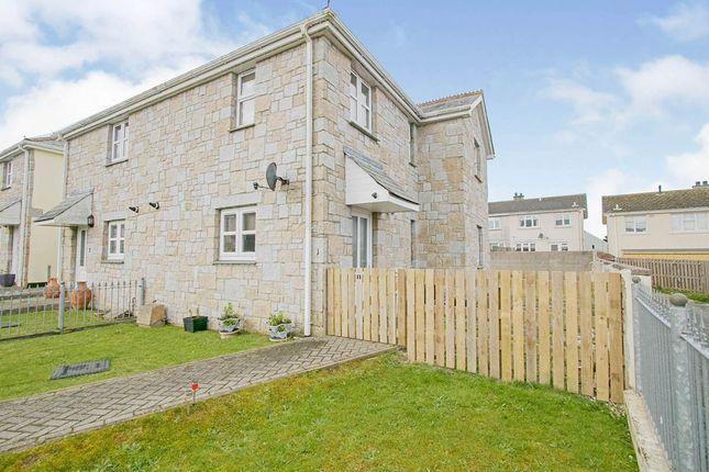 Thumbnail End terrace house for sale in St. Pirans Court, Vivian Park, Camborne, Cornwall