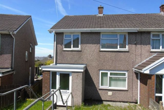 Thumbnail End terrace house to rent in Caernarvon Way, Bonymaen