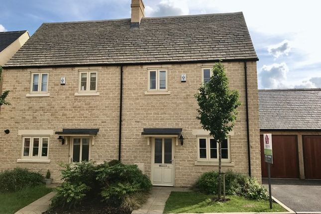 Thumbnail Semi-detached house for sale in Shilham Way, Cirencester