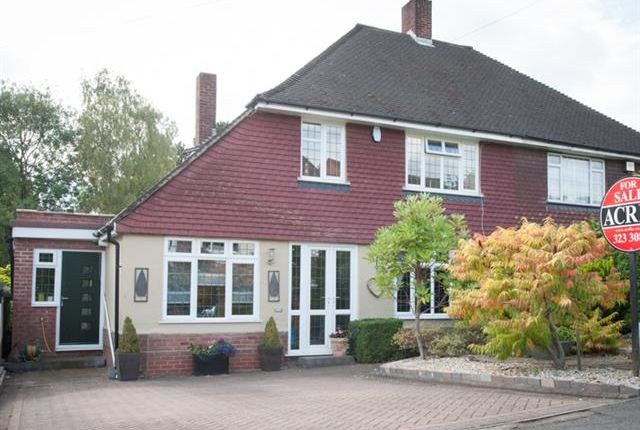 Thumbnail Semi-detached house for sale in Dower Road, Four Oaks, Sutton Coldfield