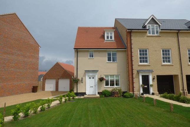 Thumbnail End terrace house to rent in East Close, Bury St. Edmunds
