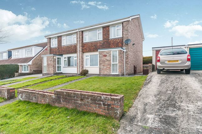 Thumbnail Semi-detached house for sale in Tregarrian Road, Tolvaddon, Camborne
