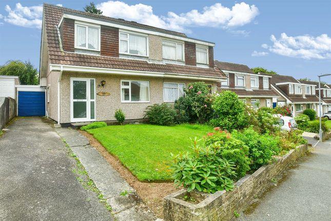 Thumbnail Semi-detached house for sale in Hawthorns, Saltash