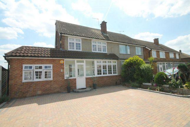 Thumbnail Semi-detached house for sale in Lynegrove Avenue, Ashford, Surrey