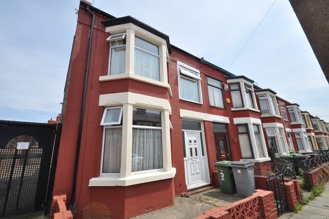 Thumbnail End terrace house for sale in Ilford Avenue, Wallasey