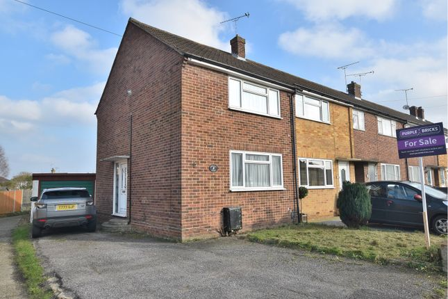 Thumbnail End terrace house for sale in Ash Grove, Chelmsford
