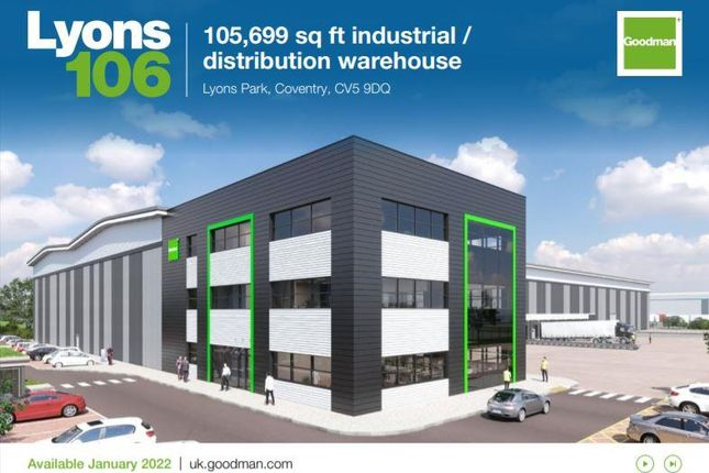 Thumbnail Industrial to let in Lyons 106, Lyons Park, Browns Lane, Lyons Park Coundon Wedge Drive, Coventry, West Midlands