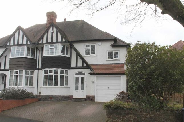 Thumbnail Semi-detached house for sale in Manor Road North, Edgbaston, Birmingham