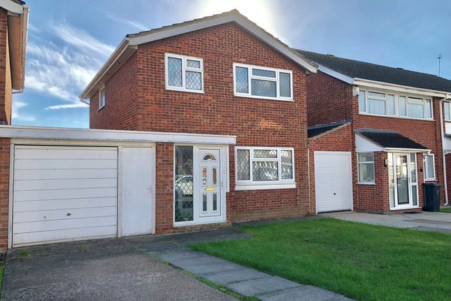 Thumbnail Detached house for sale in Braemar Drive, Rushey Mead, Leicester