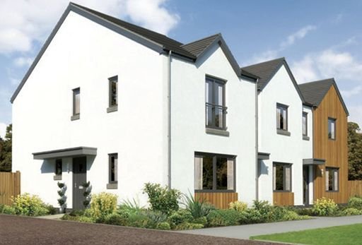 "Thumbnail Terraced house for sale in ""Belvoir End"" at Whitehills Gardens, Cove, Aberdeen"