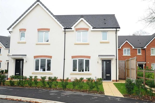 Thumbnail Semi-detached house for sale in Glazebrook Meadows, Glazebrook, Warrington