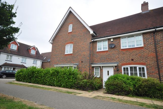 Thumbnail Terraced house to rent in Regent Way, Kings Hill, West Malling