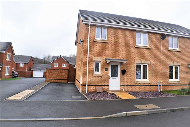 Thumbnail Semi-detached house for sale in Worcester Court, Tonyrefail, Porth