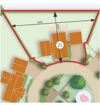 Plot Outline of Bullocks Pit Lane, Longworth, Abingdon OX13