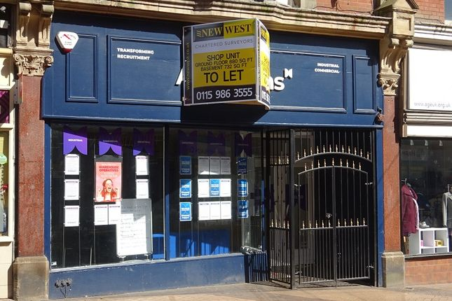 Thumbnail Retail premises to let in Leeming Street, Mansfield, Nottinghamshire