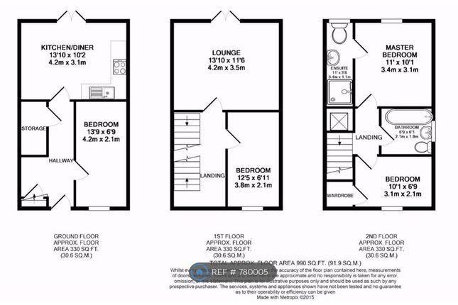 Floor Plan of Mackworth Street, Manchester M15