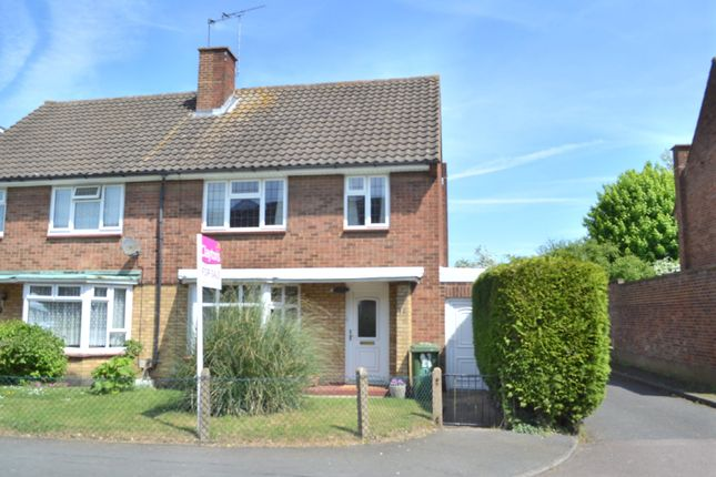 Thumbnail Semi-detached house for sale in Leveret Close, Leavesden, Watford