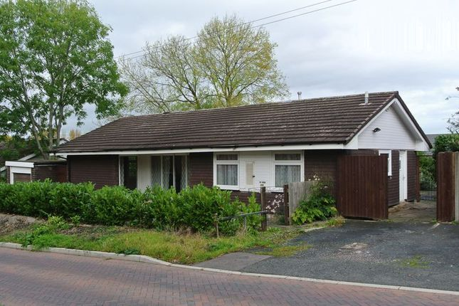 Thumbnail Detached bungalow for sale in Park Lane, Madeley, Telford, Shropshire.