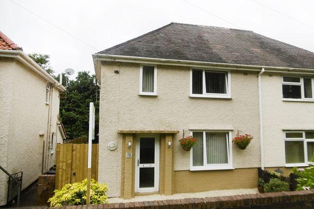Thumbnail Semi-detached house for sale in Lon Tanyrallt, Alltwen, Pontardawe.
