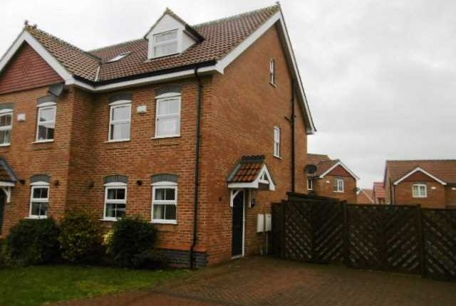 Thumbnail Semi-detached house to rent in Old School Close, Brigg