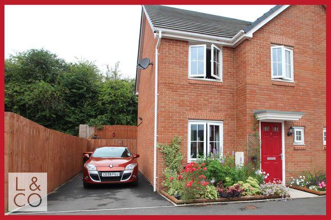 Thumbnail Semi-detached house to rent in Clos Ennig, Newport