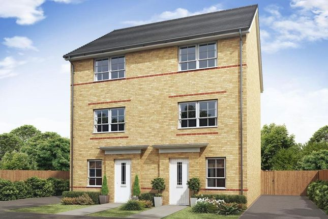 "Thumbnail Semi-detached house for sale in ""Haversham"" at Tiber Road, North Hykeham, Lincoln"