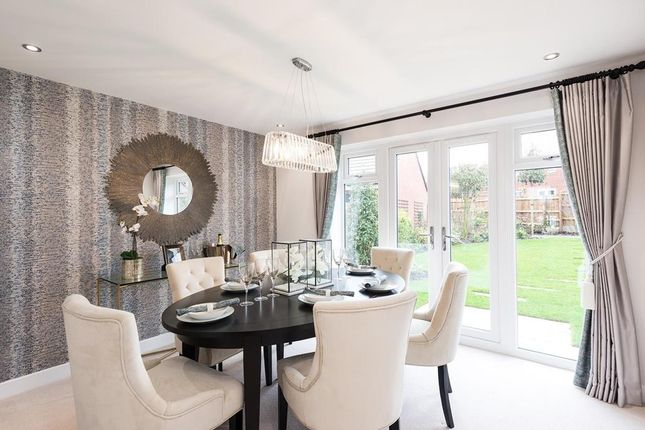 Separate Dining Room With French Doors