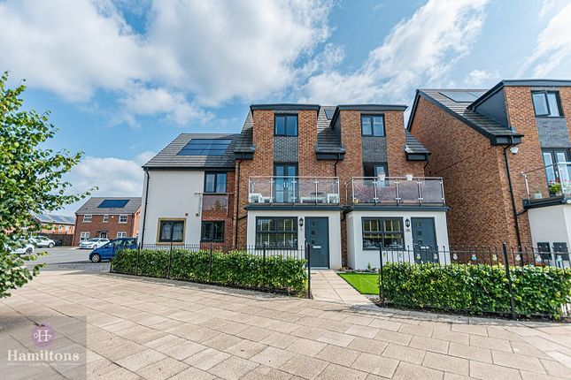 Thumbnail Town house for sale in Marina Walk, Leigh, Greater Manchester.