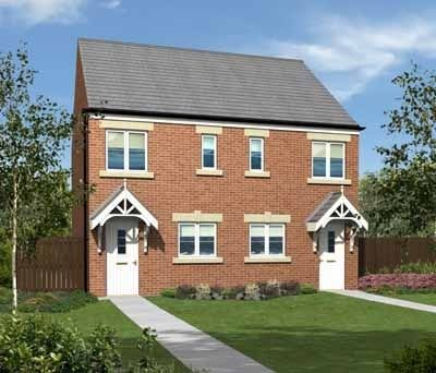 "Thumbnail Terraced house for sale in ""The Moulton"" at Coquet Enterprise Park, Amble, Morpeth"