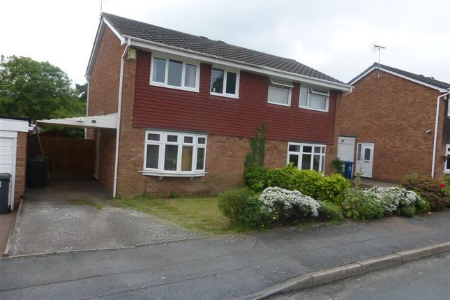 Thumbnail Semi-detached house to rent in Hebden, Wilnecote, Tamworth