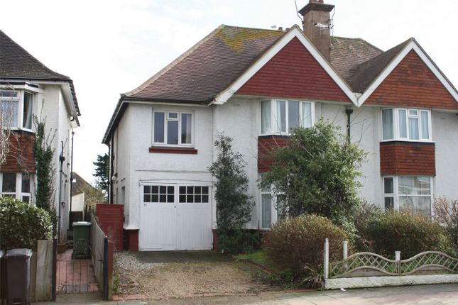 Thumbnail Semi-detached house for sale in Wickham Avenue, Bexhill-On-Sea