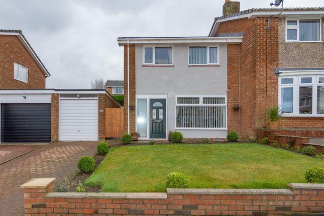 Thumbnail Semi-detached house for sale in Alderside Crescent, Lanchester, Durham